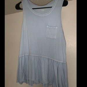 American Eagle blue sleeveless top
